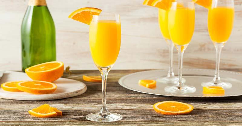 Mimosa o cóctel de mandarina - Recetas en Español